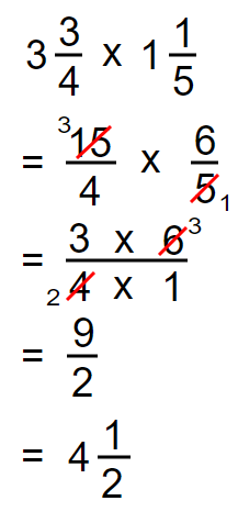 Multiplication of a Mixed Numbers 2