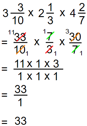 Multiplication of a Mixed Numbers 3