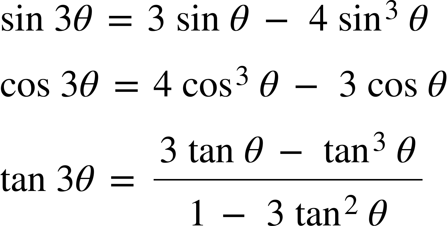 Double Angle Identities 3 theta