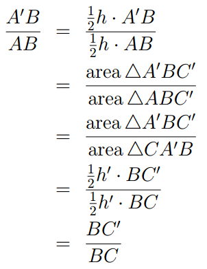 triangle geometry proof 1.1