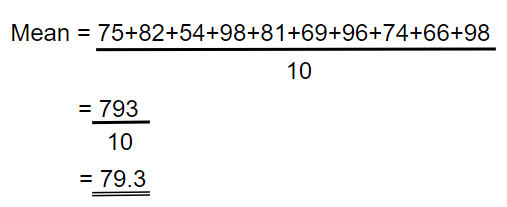 find the mean example 01