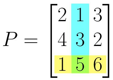matrix element x