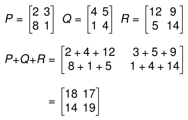 matrices addition example