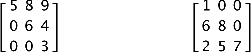 triangular matrices types