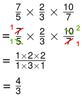 multiply three improper fractions