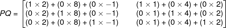 multiplying 2 matrices