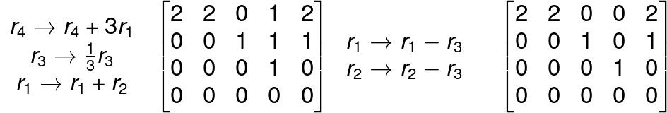row reduced echelon form example 3