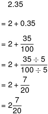 Converting Decimals to Fractions example