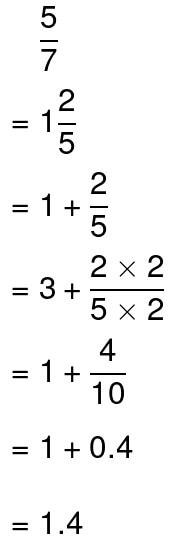 convert it into a mixed number then convert it into a decimal