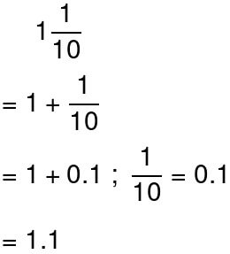 converting mixed numbers to decimals example 1