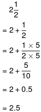 converting mixed numbers to decimals example 2.1