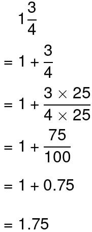 converting mixed numbers to decimals example 3